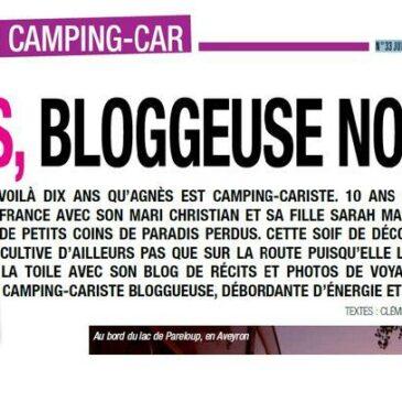 """petit article dans le magazine """"Esprit camping-car"""""""